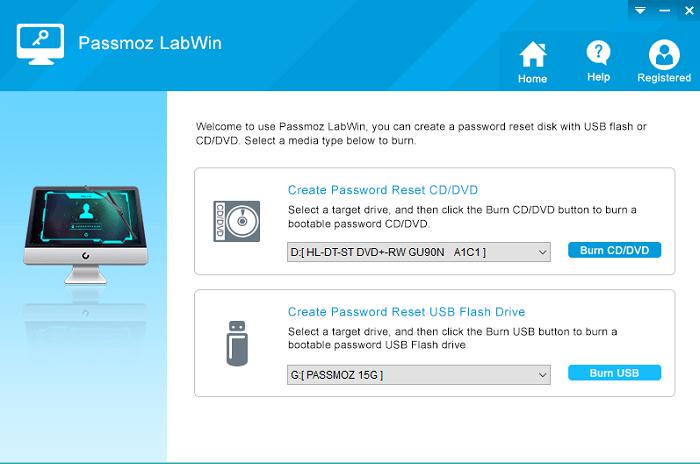PassMoz LabWin - windows password recovery