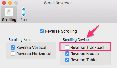 Set Different Scroll Direction For Mouse And Trackpad On Mac