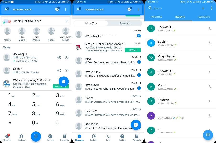 Truecaller - best android dialer 2018