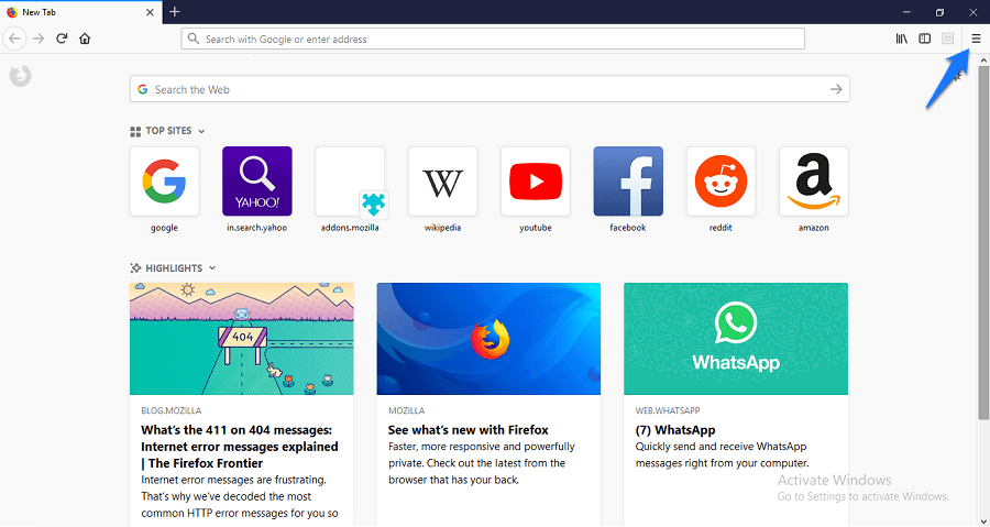 Change firefox background colour