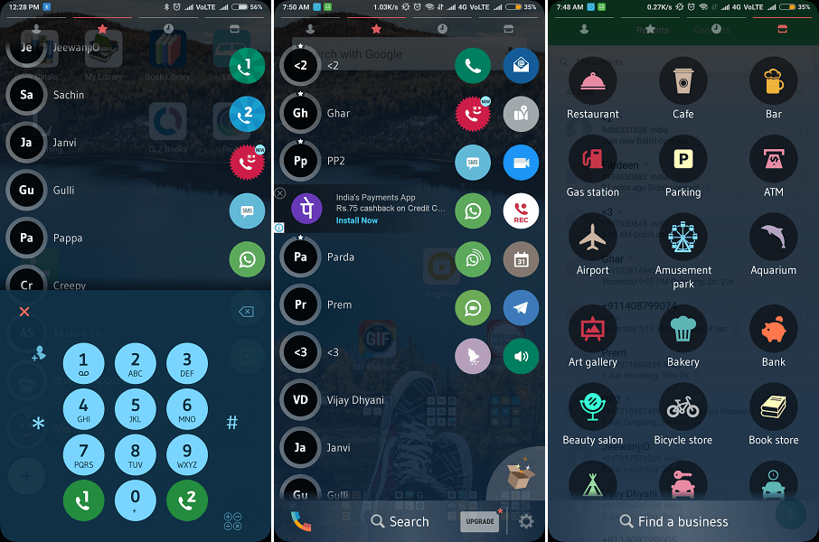 drupe - Best Android dialer apps