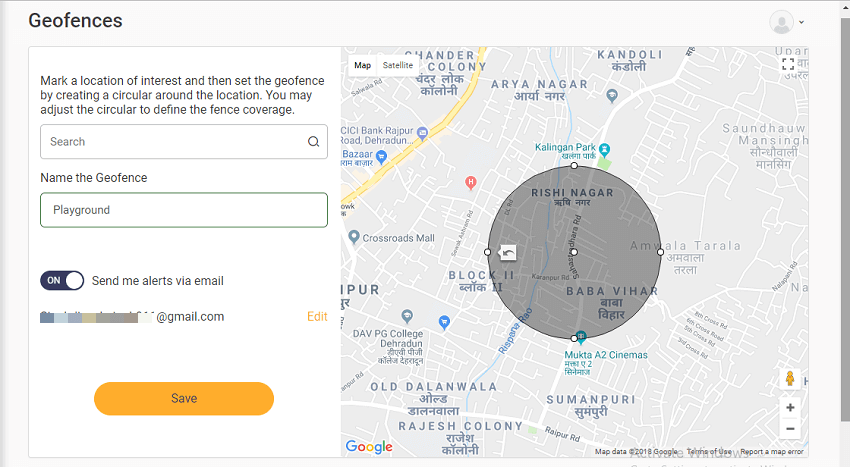 monitor locations and set geofences - FoneMonitor