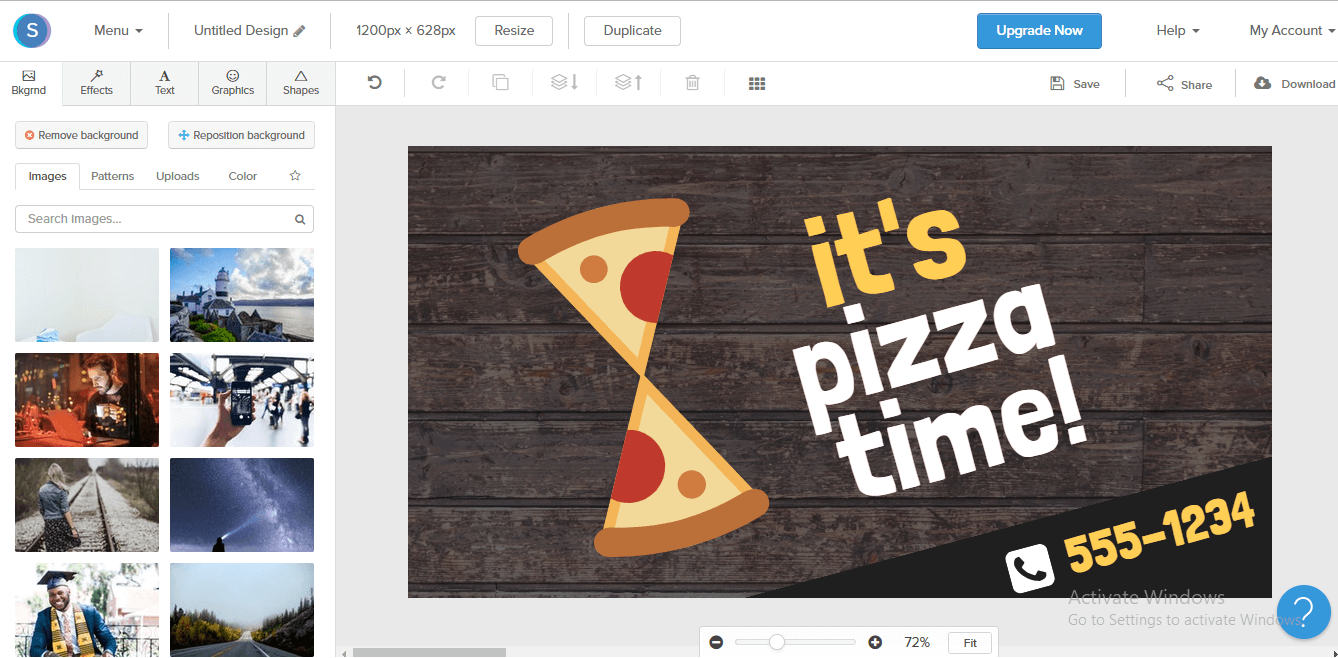 snappa - best graphic design tool other than canva