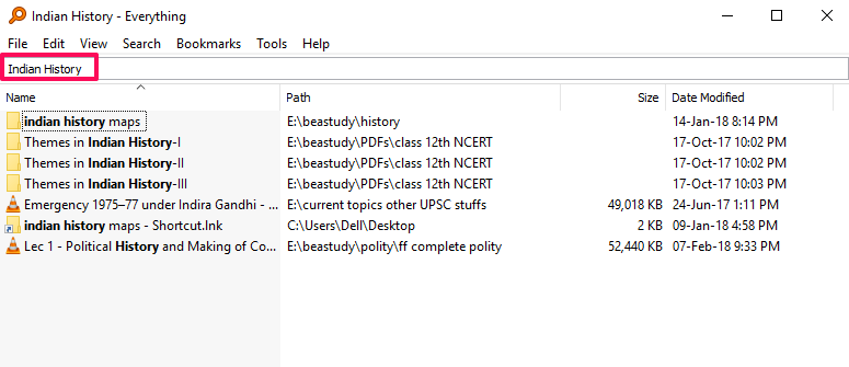 File Search Windows - Everything