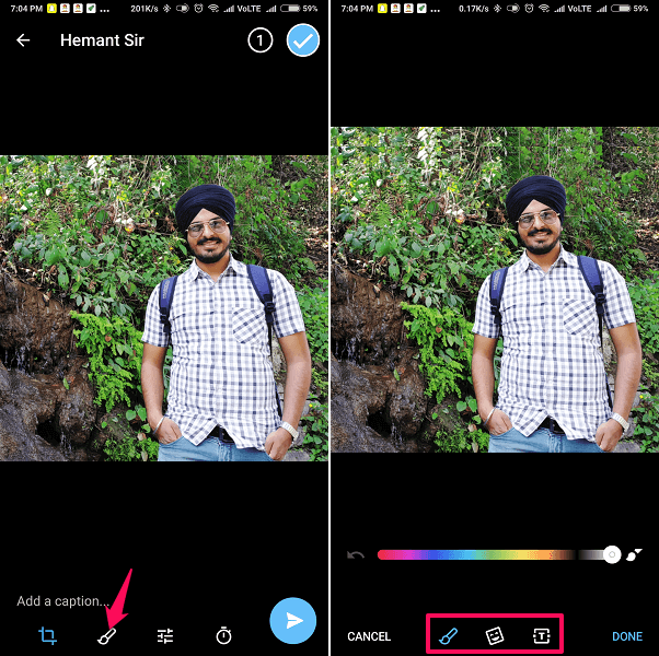 How To Add Text And Stickers To Photos On Telegram | TechUntold