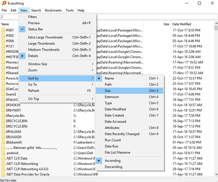 Everything - fast Windows file search