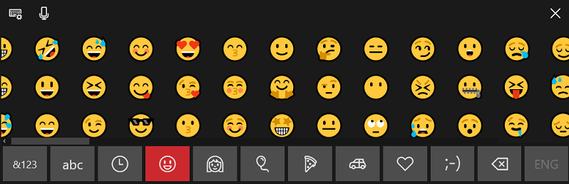 Emoji keyboard on PC