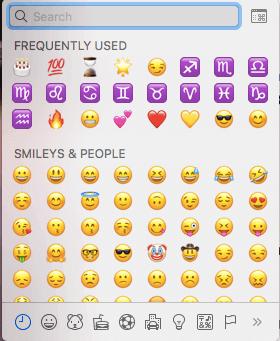 Emoji shortcut mac