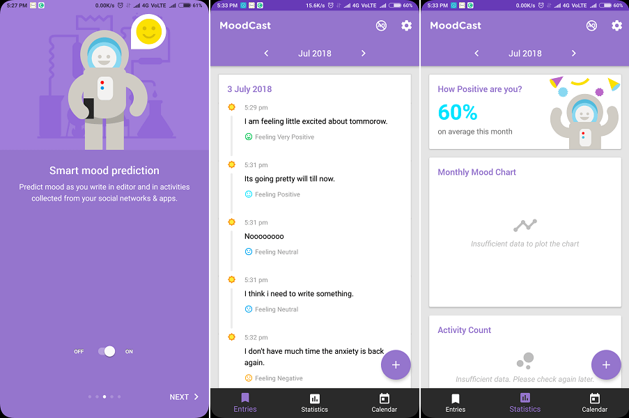 Moodcast Diary - mood tracking chart