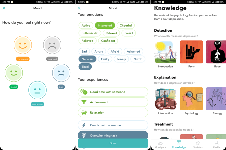 Moodpath - Depression & Anxiety tracker Test