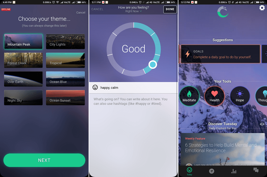 Pacifica - Top mood tracker app for bipolar disorder