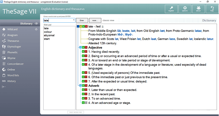 TheSage - Best offline dictionary for Windows PC