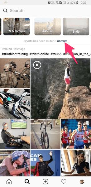 Unmute Channel In Instagram Explore tab