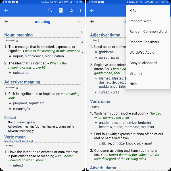 Wordweb - best offline dictionary for android and PC
