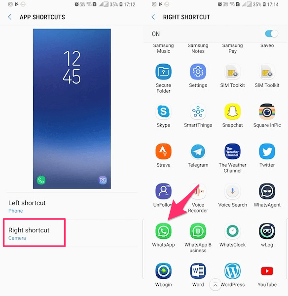 Add WhatsApp Icon to Lock Screen on Android
