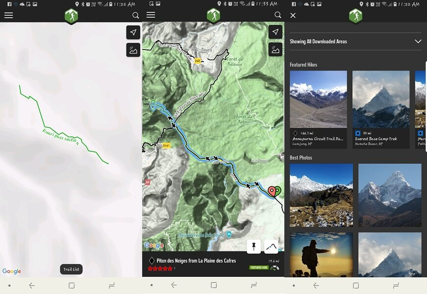 Best hiking apps for android iPhone- hiking project