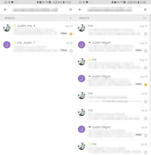 Turn off Gmail Conversation View on Android iPhone app
