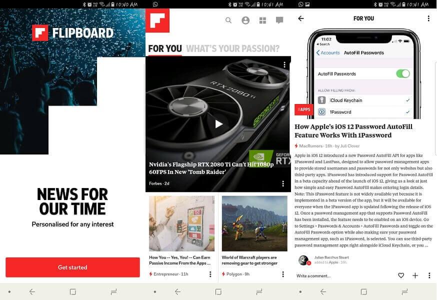 Flipboard - Best Appy Geek alternative