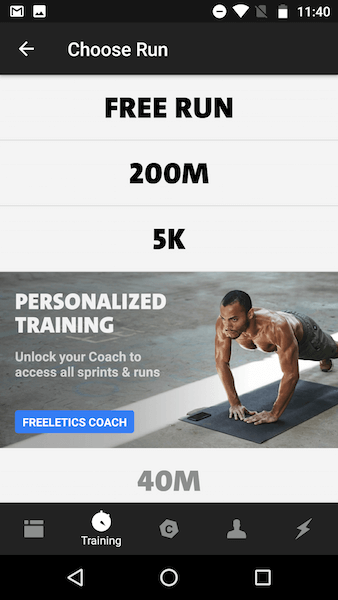 Freeletics Review - running