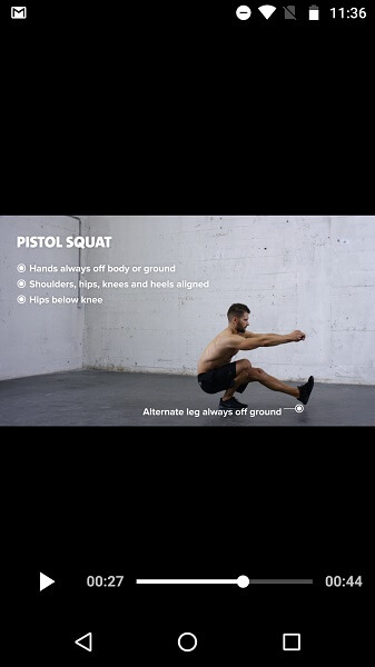 Freeletics review - workout video