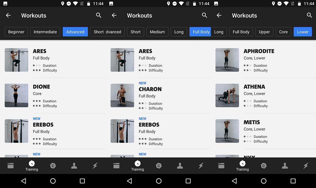 Freeletics workouts