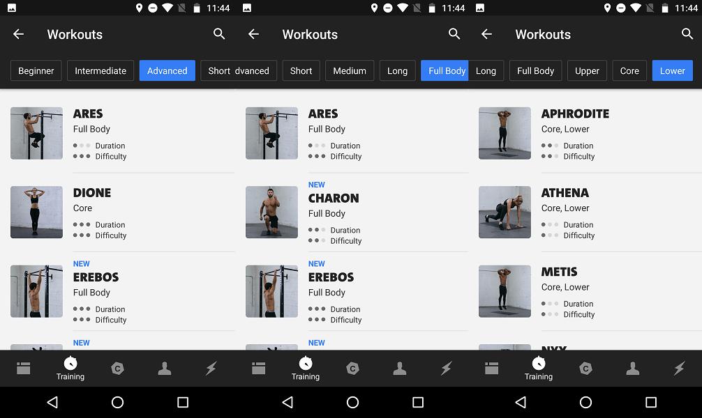 Freeletics workouts