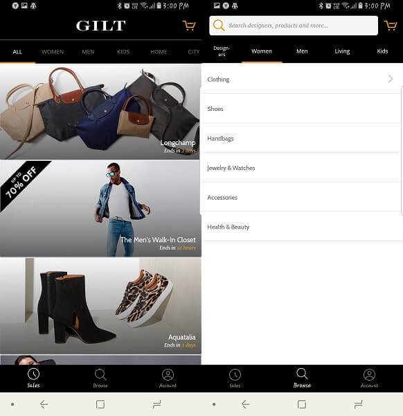Gilt - apps like poshmark