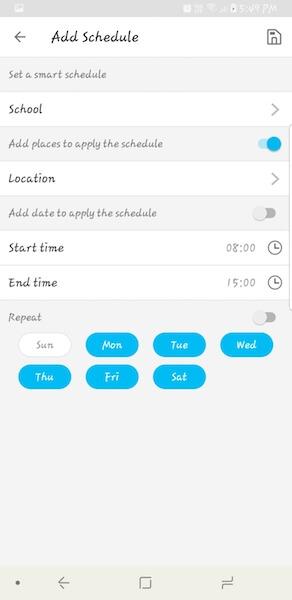 Smart schedule - FamiSafe