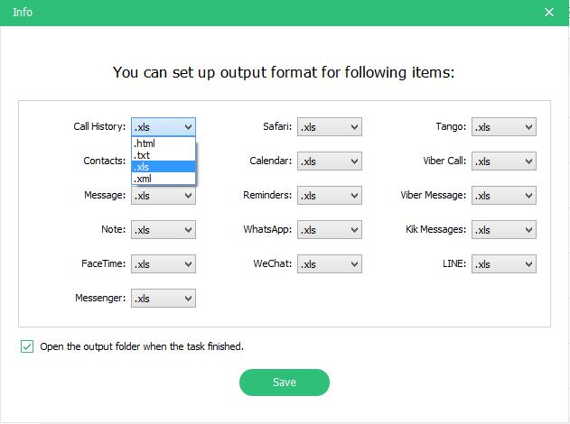 UtDAta - Output file formats