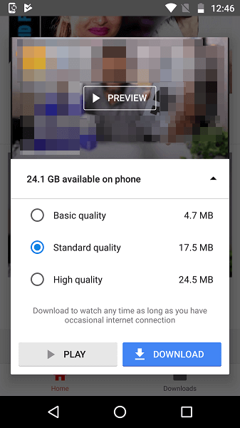 YouTube Go preview videos