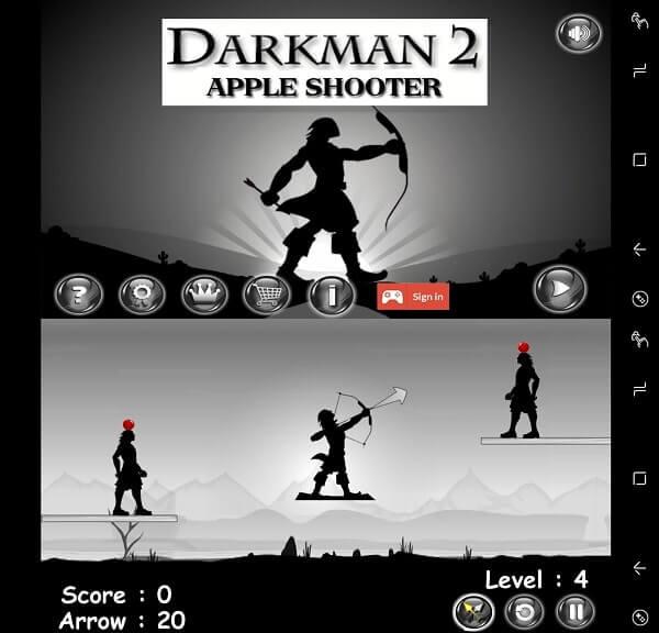 dark man 2 archery- shooting game