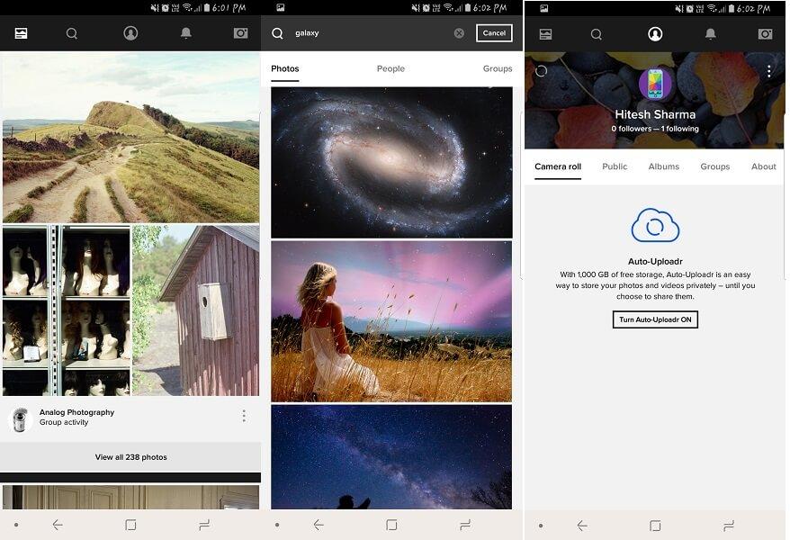Pinterest alternative apps - Flickr