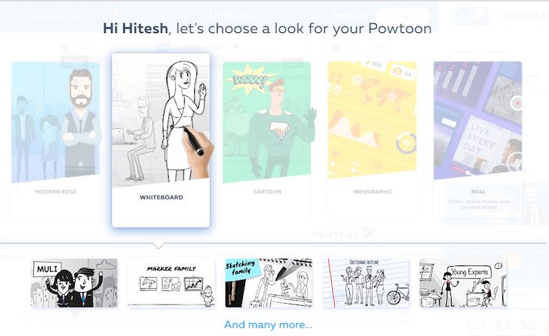 powtoon - whiteboard animation online tool