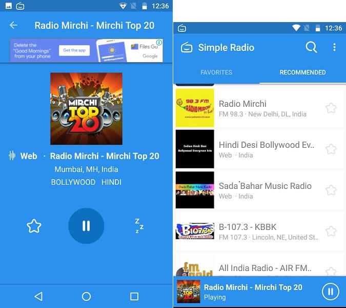 simple radio android app