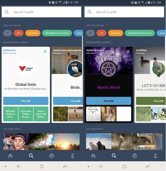 tumblr - apps like Pinterest