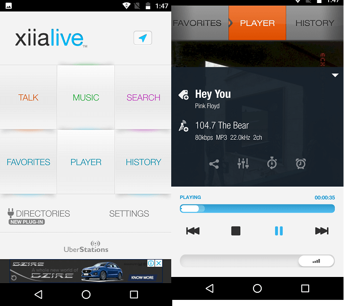xiialive - best tunein alternatives