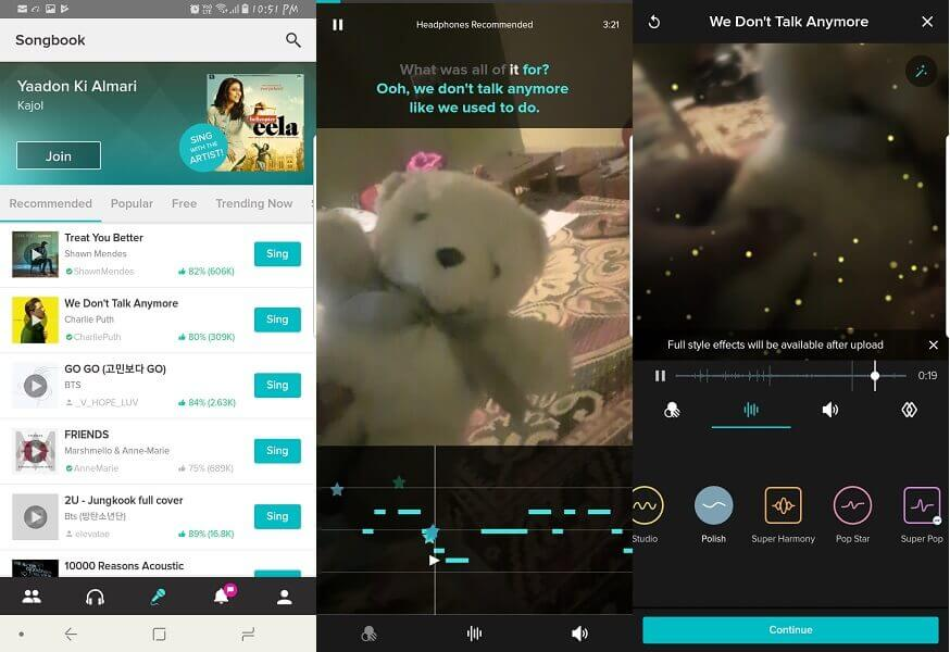 App like Dubsmash for iPhone Android - Smule