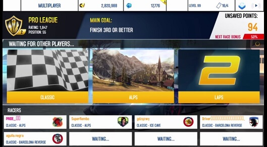 Asphalt 8 - Best multiplayer game to play with freinds