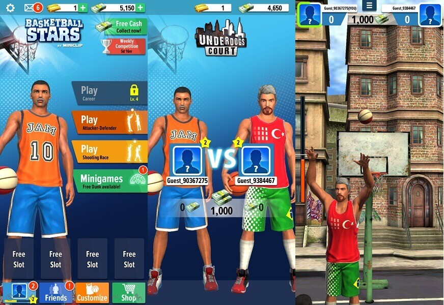 Basketball Stars - best basketball games for Android