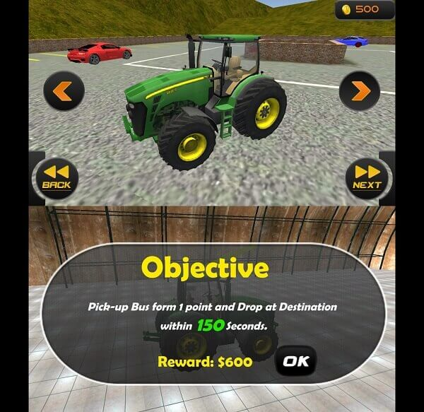 Chained Tractor Bus Simulator