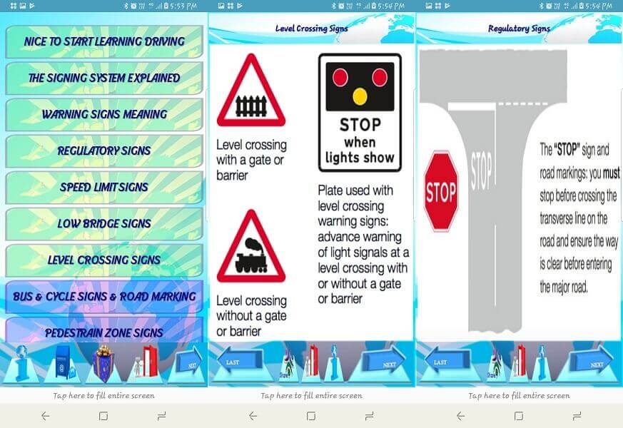 Driving Rules & Traffic Signs
