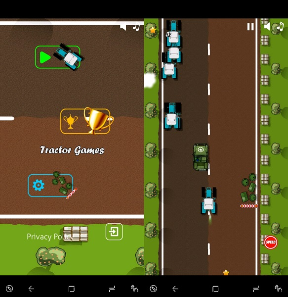 Emerald Games Tractor Mania app - free tractor games for Android