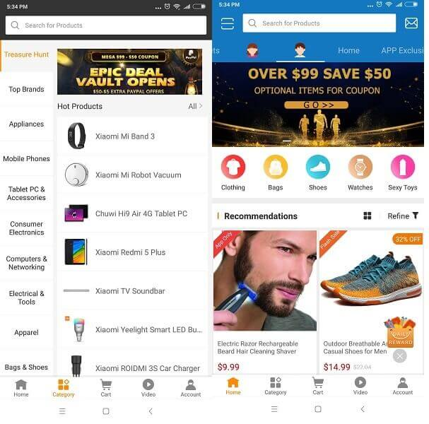 GearBest Online Shopping - Sites Like wish
