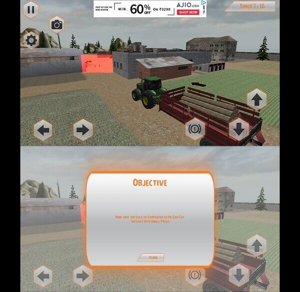 Heavy Tractor Trolley Driver Simulator Game