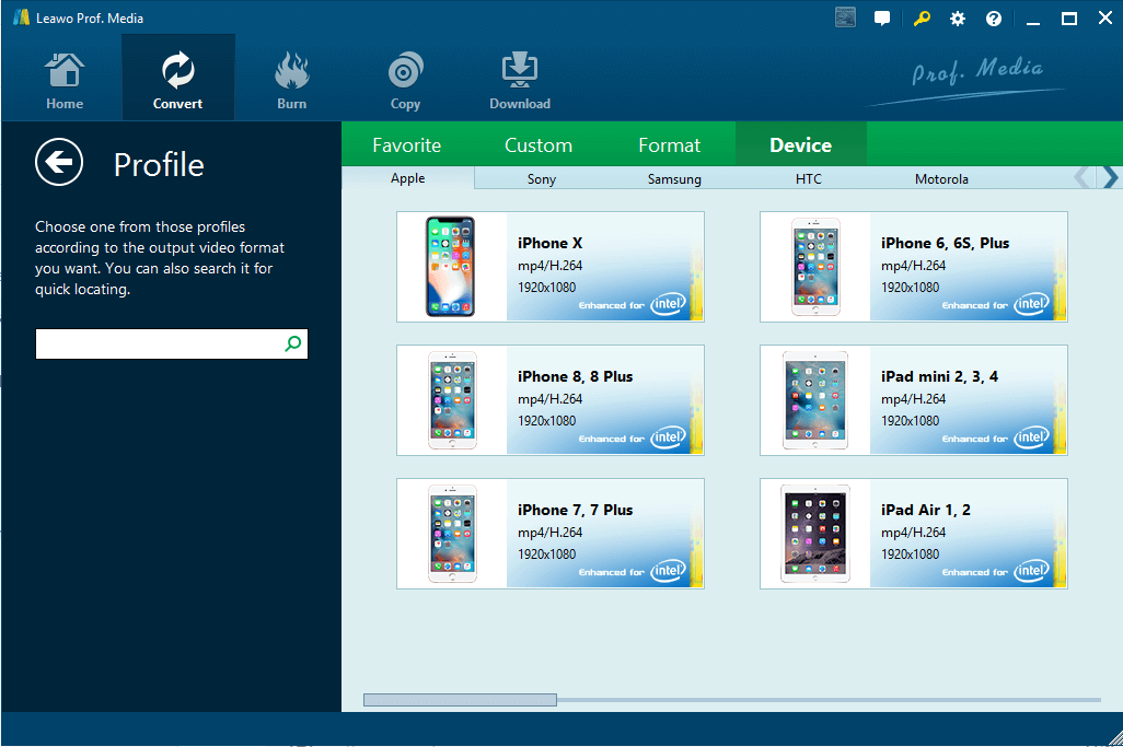 Leawo Video Converter -Portable Devices