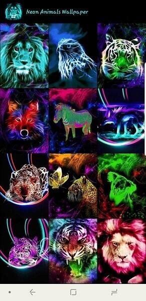 Neon Animals Wallpaper