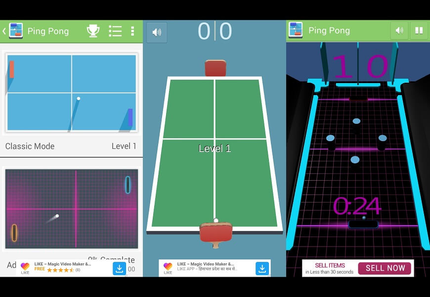 Pong Table Tennis Classic 3D