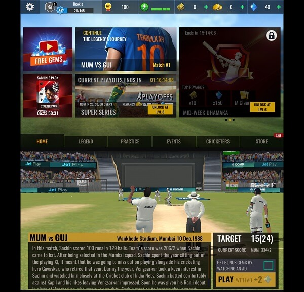 Sachin Saga Cricket Champions - Best cricket games for android
