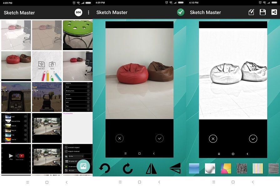 Sketch Master - app to turn photo into sketches