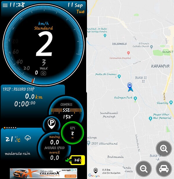 Ulysse Speedometer - free speedometer apps for Android